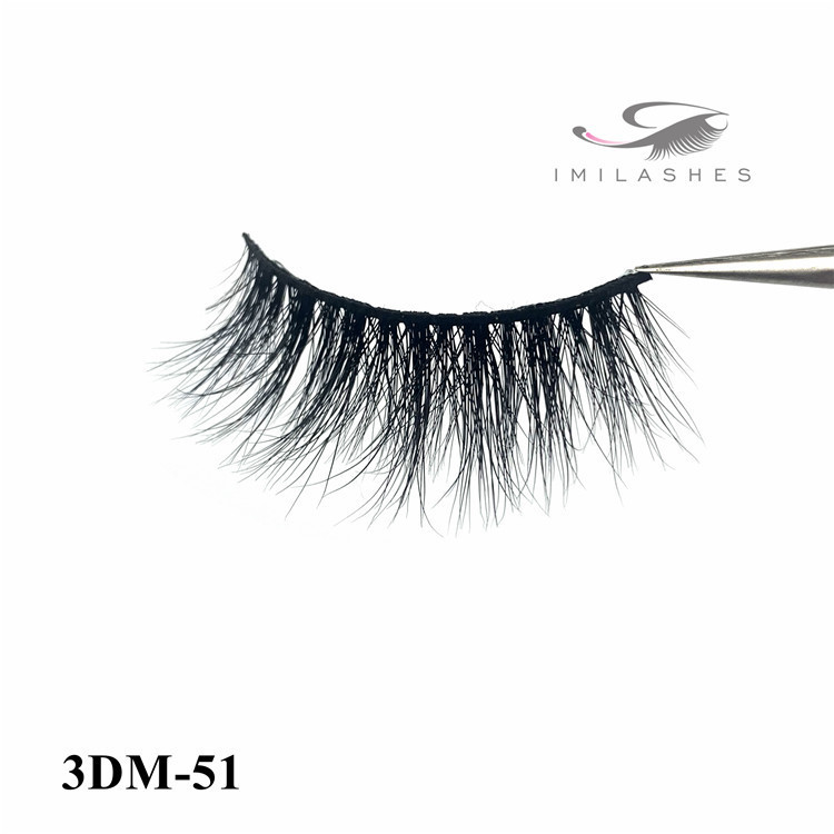 Curelty free dramatic 3d mink eyelashes vendor-L