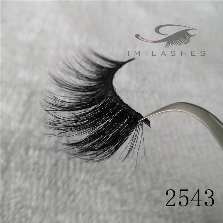 Long 25mm real mink 3D lashes wholesale China A-43