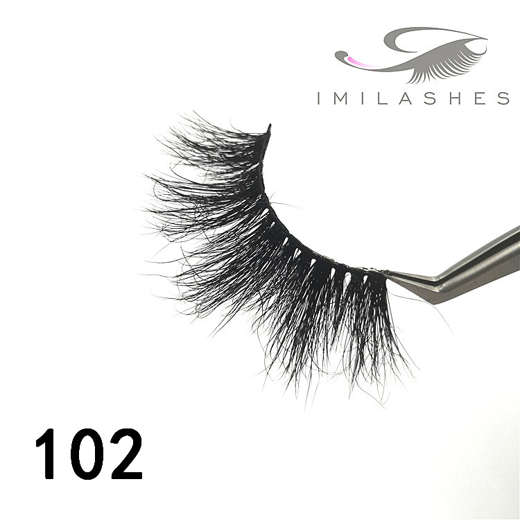 Big dramatic volume strip 25mm mink eyelashes - A