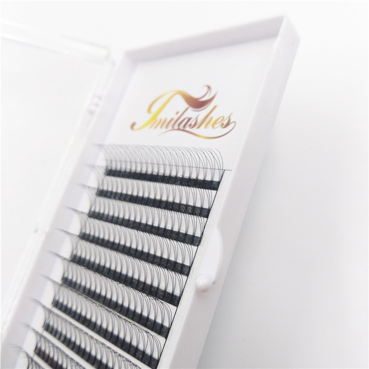 Customized own brand premade fans eyelashes supplier-L