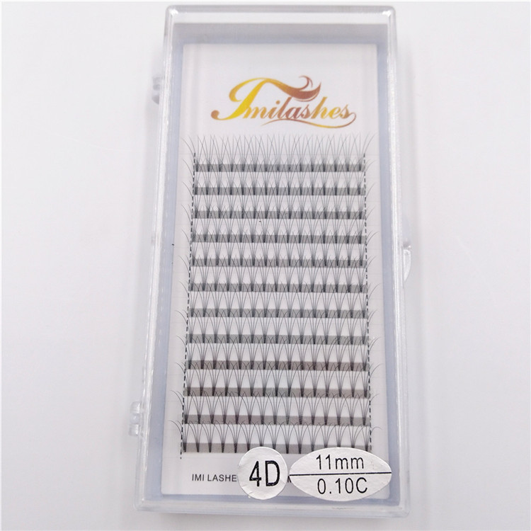 High quality short stem premade volume eyelash extensions 4D fan wholesale-V