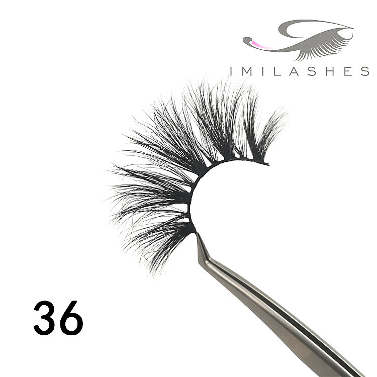 wholesal best 25mm handmade mink eyelashes - A