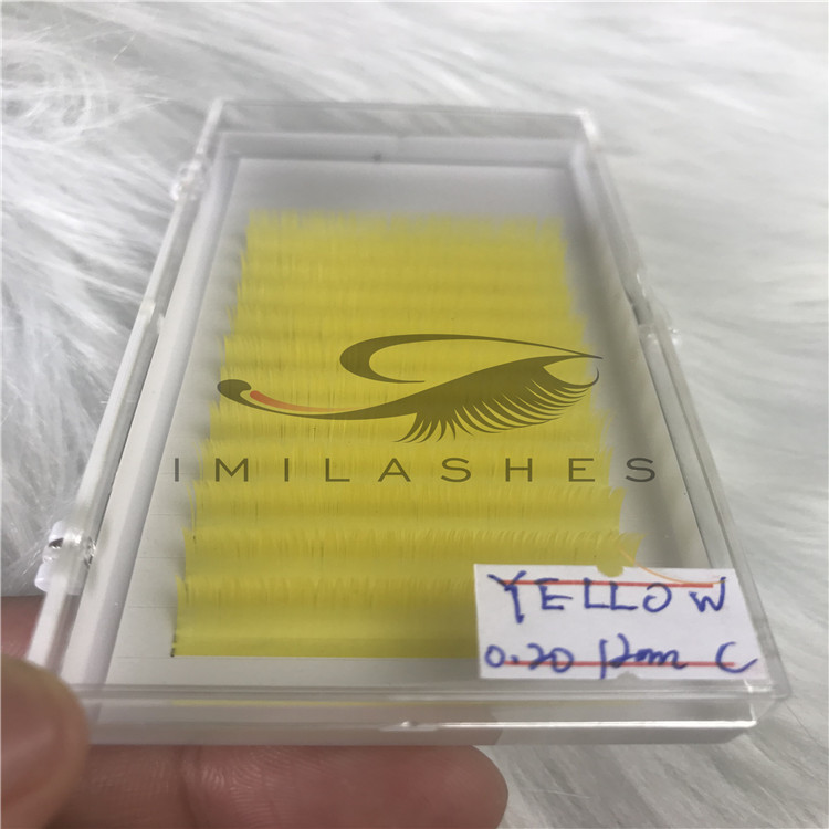 China lash extensions vendor wholesale colored flat lash extensions