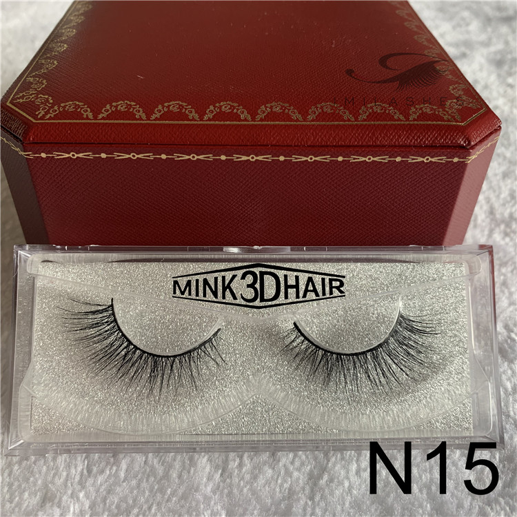 Natural synthetic 3d mink eyelash extensions