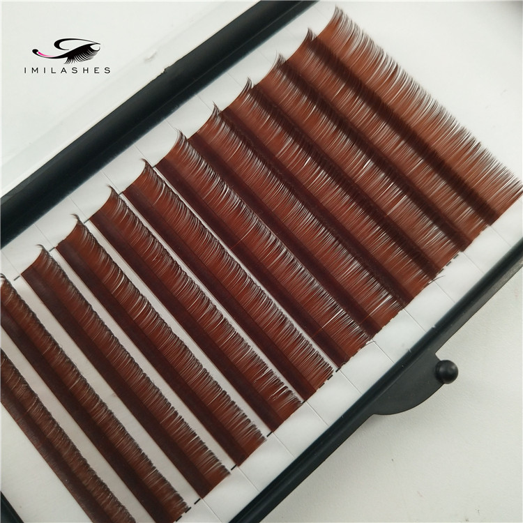 Wholesale colored individual eyelash extensions