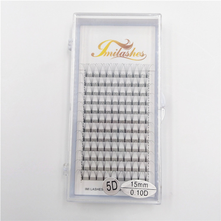 Best 5D russian volume pre made fan lashes wholesale-V
