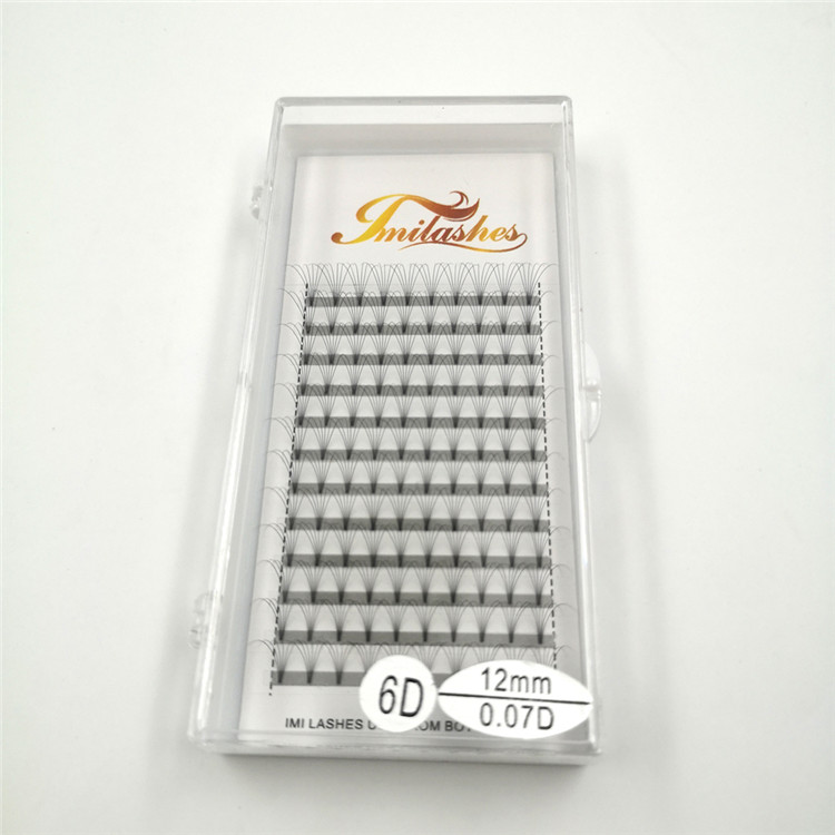 Best heat bonded premade volume fans lash extensions supply-V