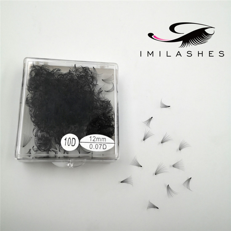 Wholesale best loose volume pre made lash fans for natural set-V