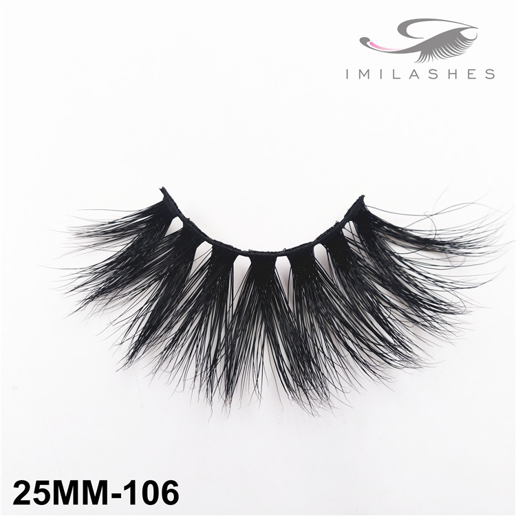 Fluffy full strips handmade real mink lashes wholesale-V
