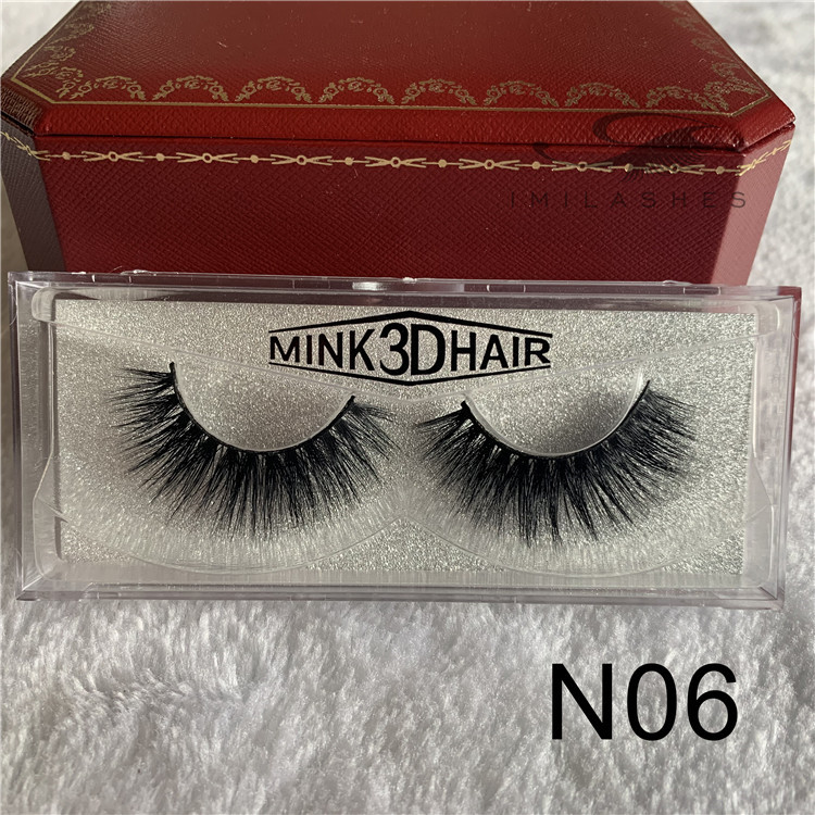 Supply high quality natural look 3D mink lashes USA -V