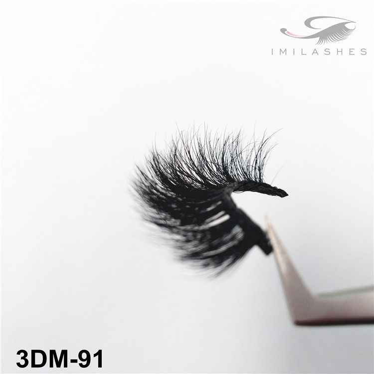 Handmade flexible band 3D mink lashes wholesale-V