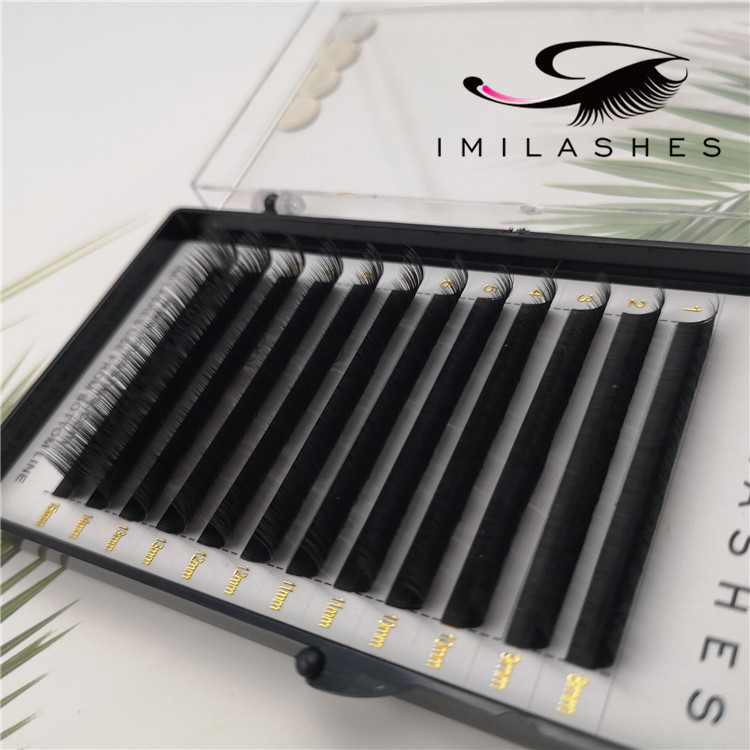 Wholesale high quality ellipse flat lash extensions in Europe-V
