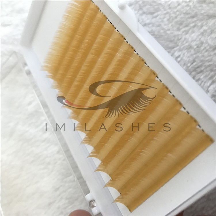 Wholesale 2019 New Colored Flat Individual Eyelashes Extensions in China