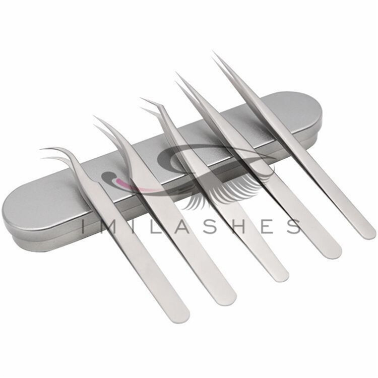 High quality eyelash extensions tweezers wholesale-V