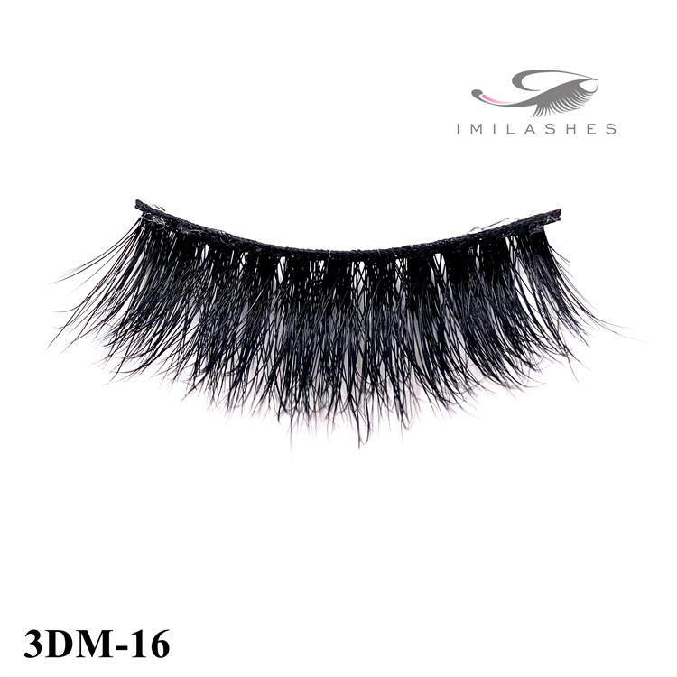 Wispy real mink fur natural look fake eyelashes wholesale for women makeup-V