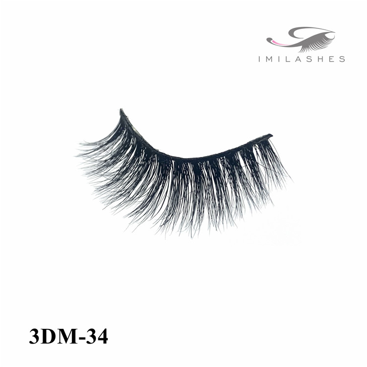 Luxurious messy fluffy thick mink lashes wholesale-V
