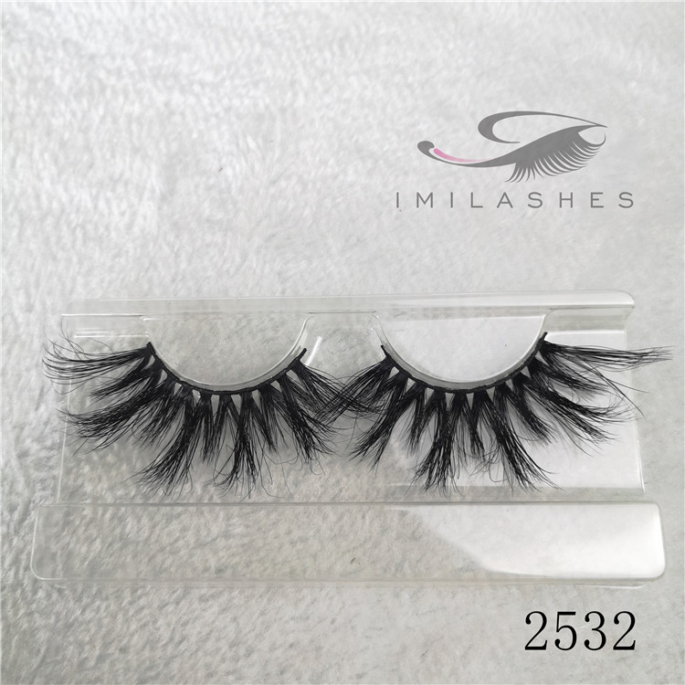 25mm mink fur 3D mink lashes long eyelashes natural