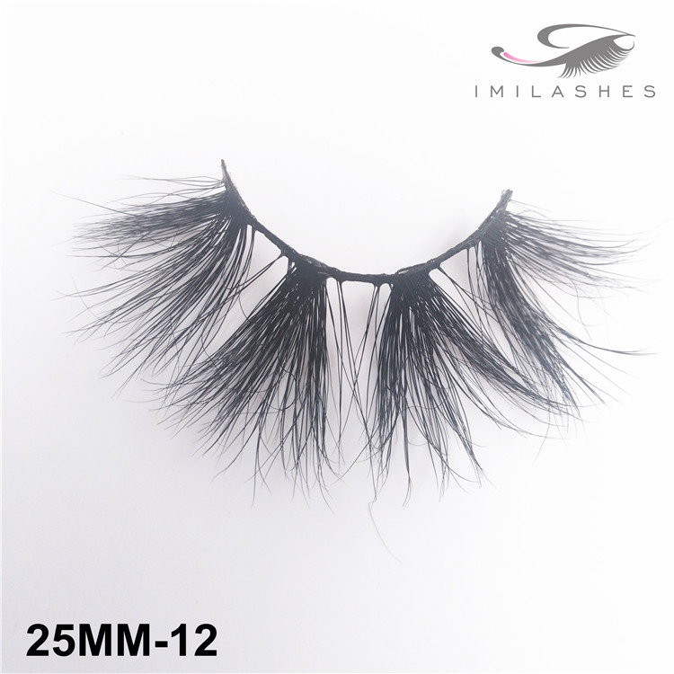 Long dramatic handmade faux mink lashes supply-V