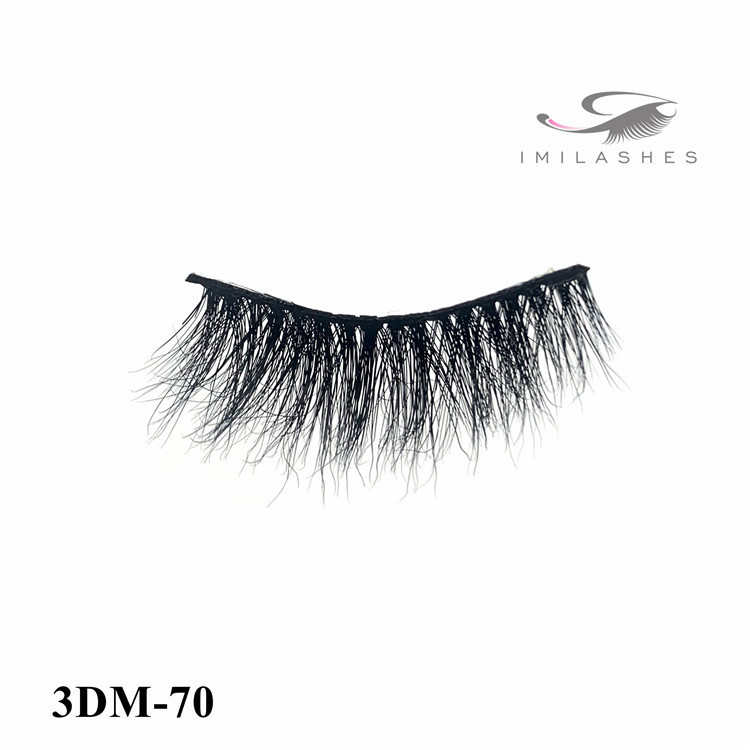 Custom private label real fur strip eyelashes supplier-L