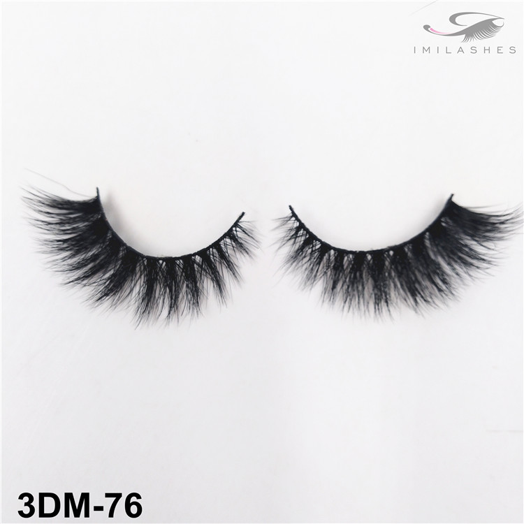 Real mink fur lashes natural easy to apply lashes wholesale-V