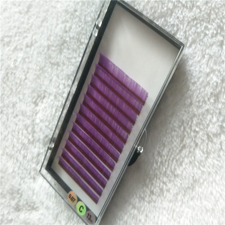 Lash Distributer Wholesale Colored Purple Flat Eyelashes with Best Quality.jpg