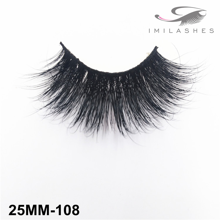 25mm thick dramatic mink strip lashes wholesale-V