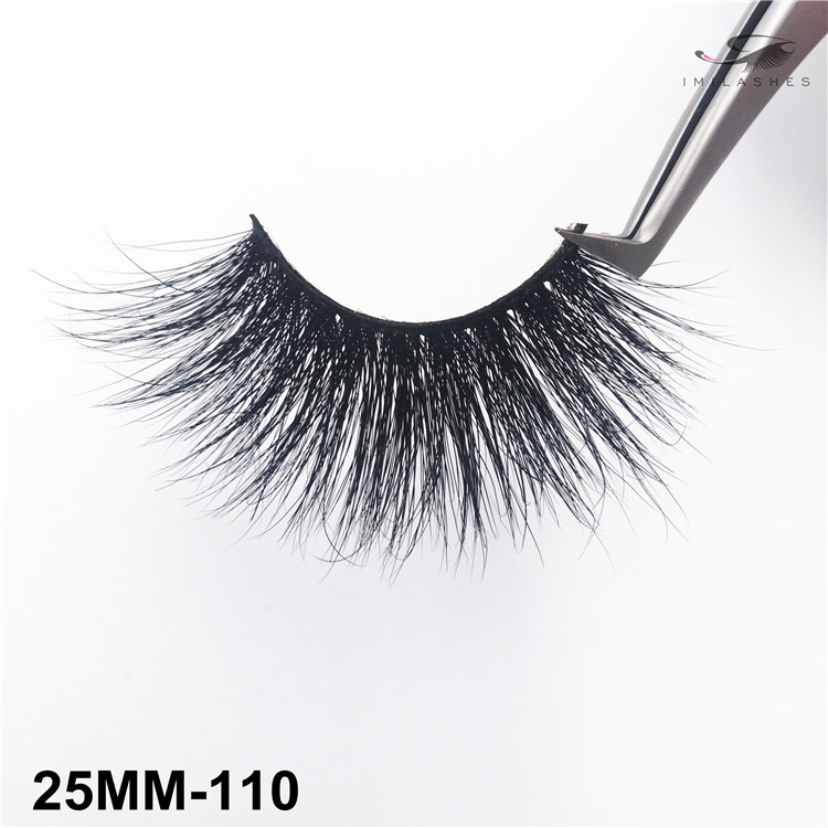 Cruelty free fluffy dramatic real mink eyelashes vendor-V