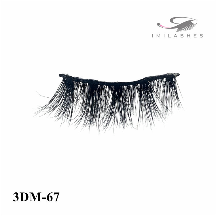 OEM private label  natural 3D mink eyelashes-L