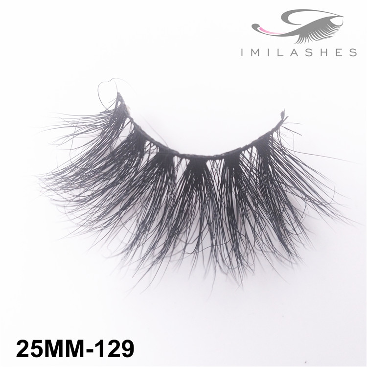 25mm 5D long fluffy mink hair false eyelashes wholesale-V