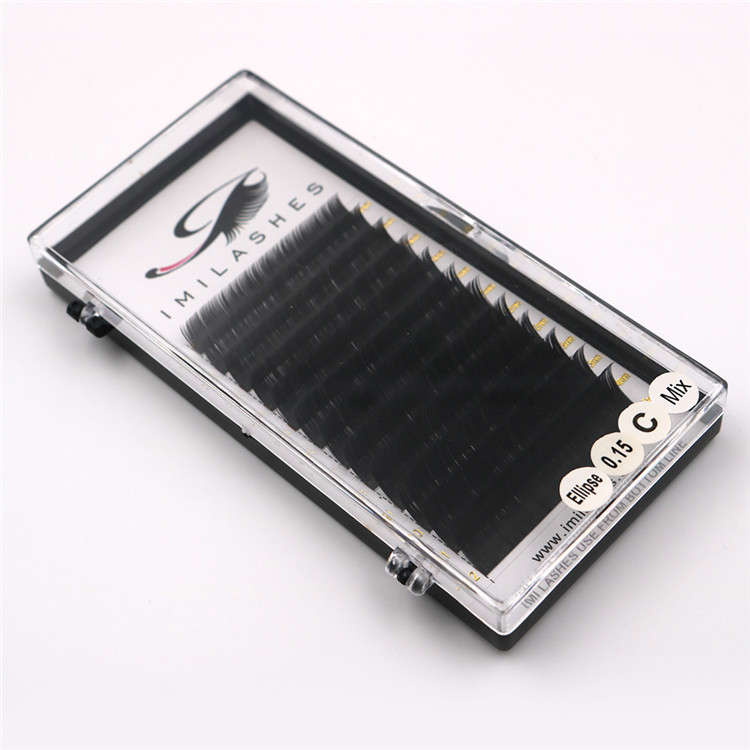 0.15 mix length flat ellipse lashes supplier - A