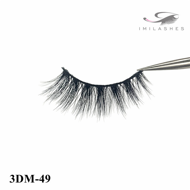 Siberian premium natural black 3d mink eyelashes-L