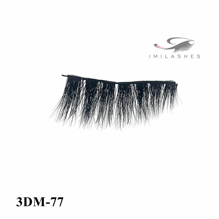 Multi layered fluffy volume natural look faux mink lashes wholesale-V