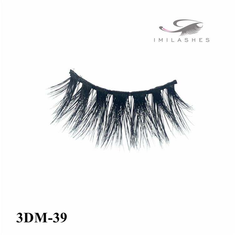 Dramatic makeup handmade natural messy false eyelashes supply-V
