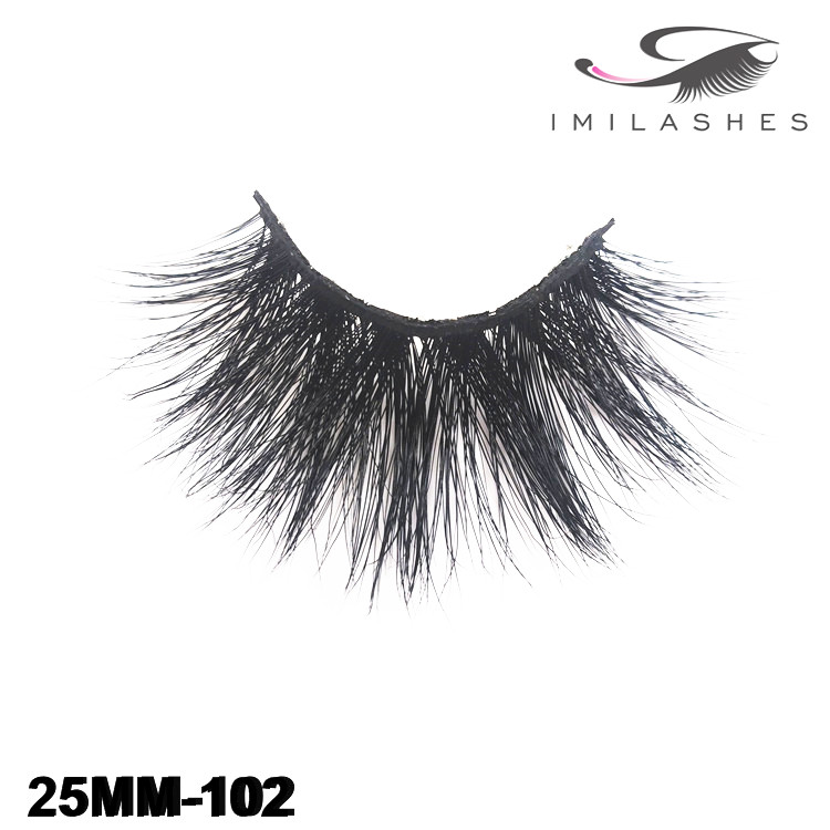 Wholesale handmade 25mm mink lashes-V