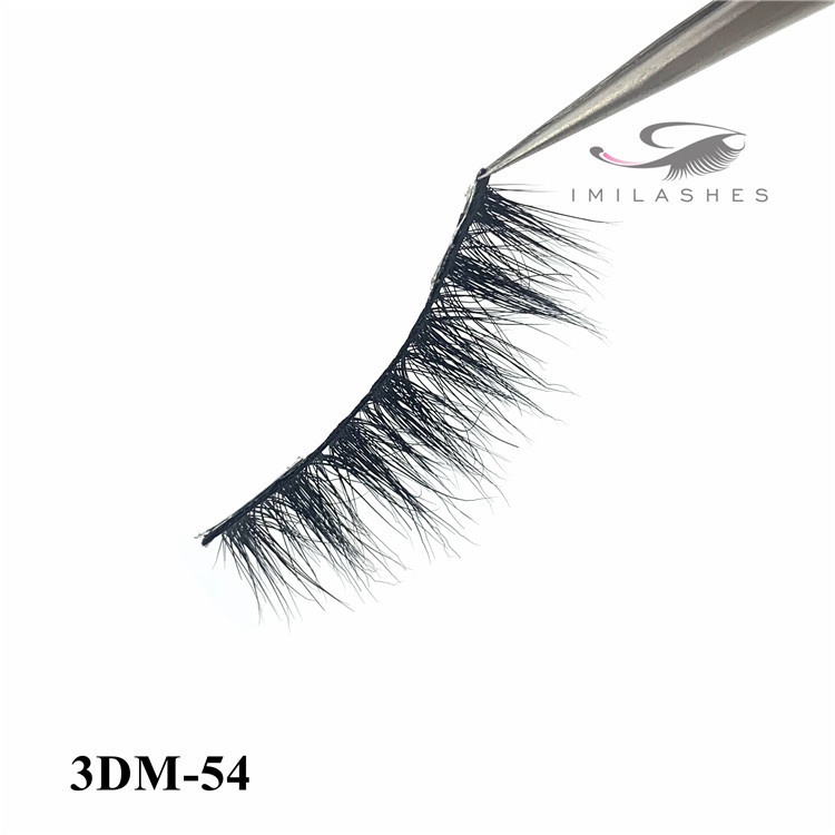 wholesale hand made real fluffy 3D mink eyelashes factory-L