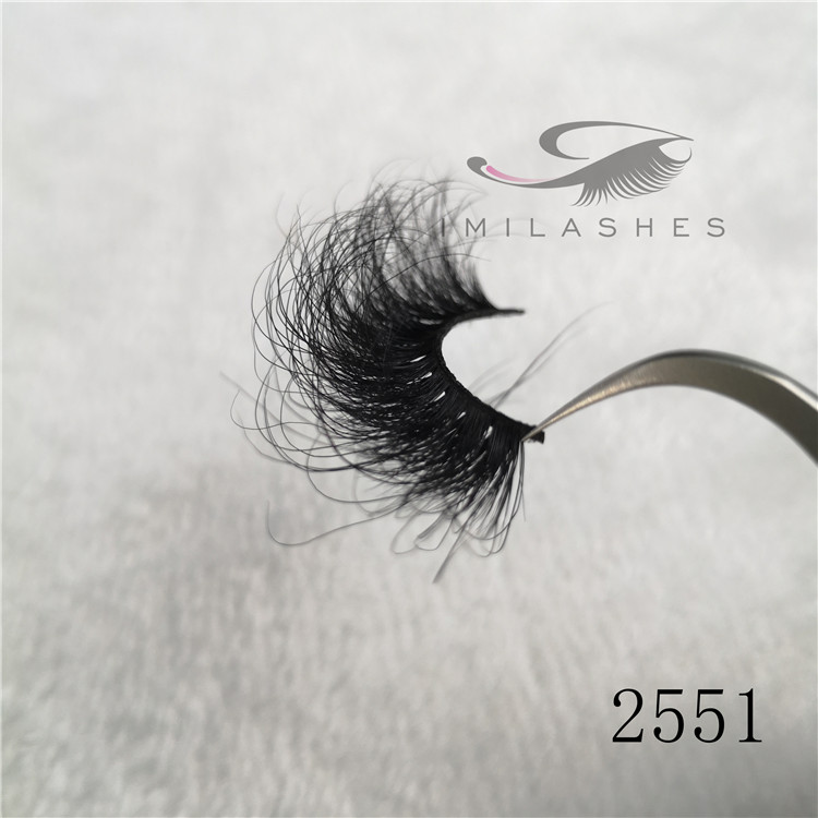 Cruelty free mink lashes supplier wholesale 25mm long lasting false eyelashes A-51
