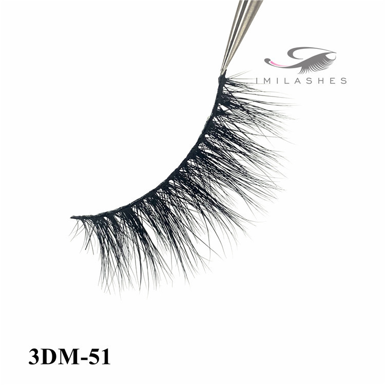 Real mink fur fluffy cat eye party queen 3D mink eyelashes-L