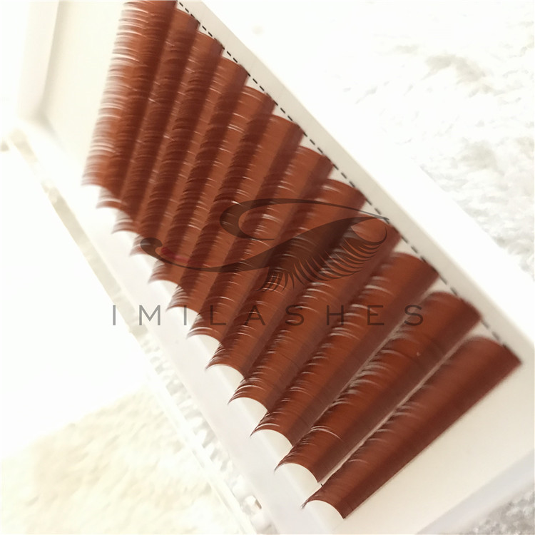 2019 New Style of Colored Eyelashes with Fluffy Effect