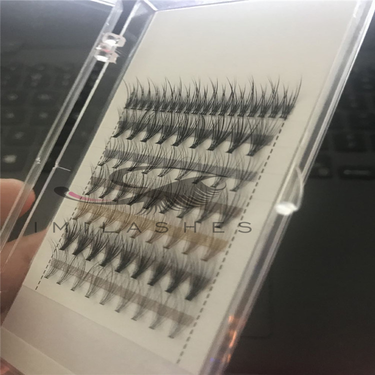 Wholesale heat bonded premade fans volume eyelash extensions