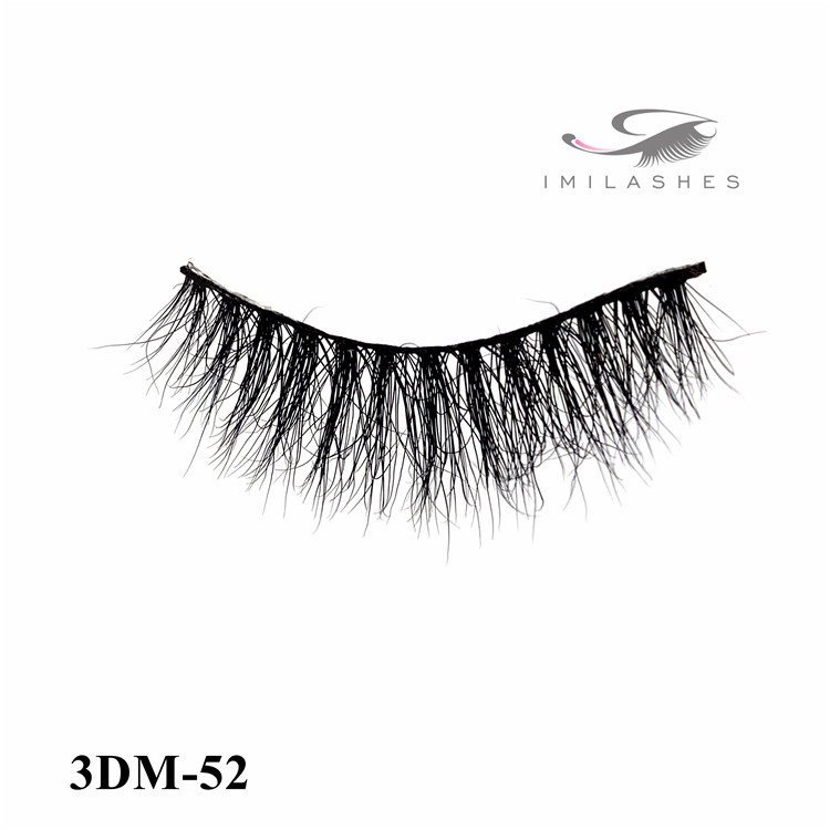 High quality real mink fur fake lashes wholesale-V