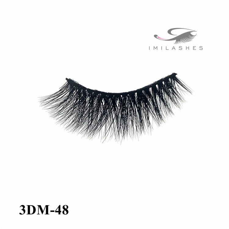 Permanent cruelty free 3d mink eyelashes manufacturer-L