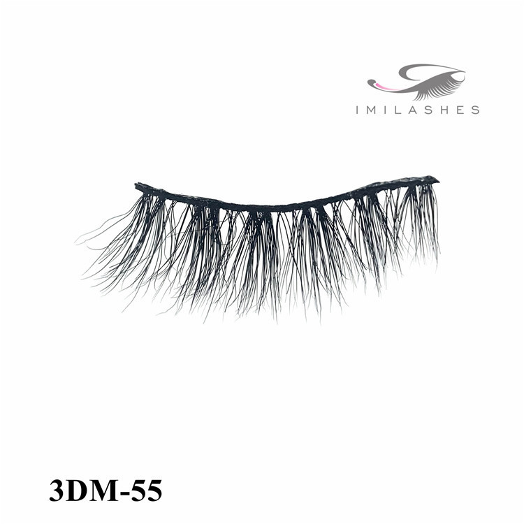 High quality real mink fur strip eyelashes vendor-L