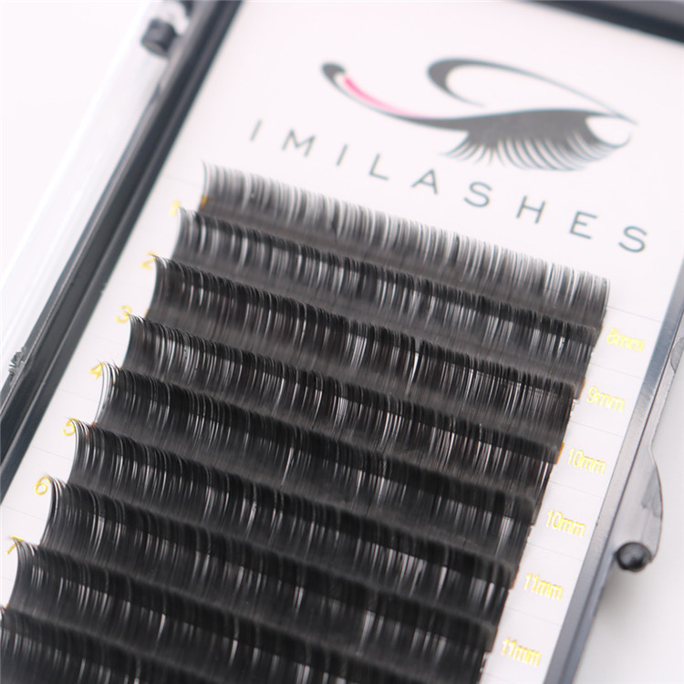 Wholesale high quality .15 C ellipse flat lash extensions UK -V