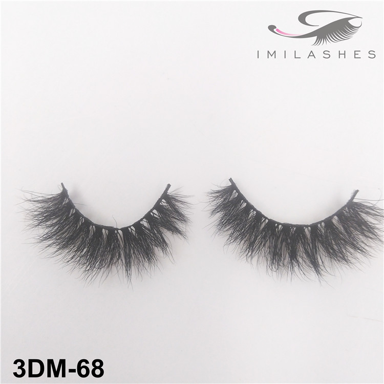 Handmade natural look fluffy lashes wholesale-V