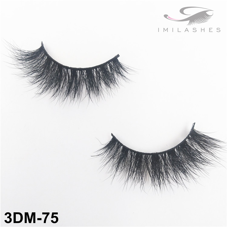 Natural look short soft fake mink lashes supply-V