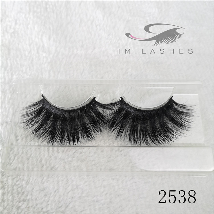 Real mink long fur eyelash extensions 3d 25mm lashes A-38