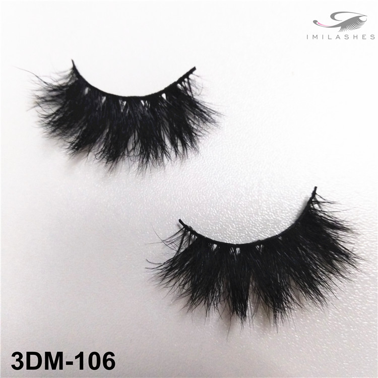 Messy thick reusable makeup lashes supply-V