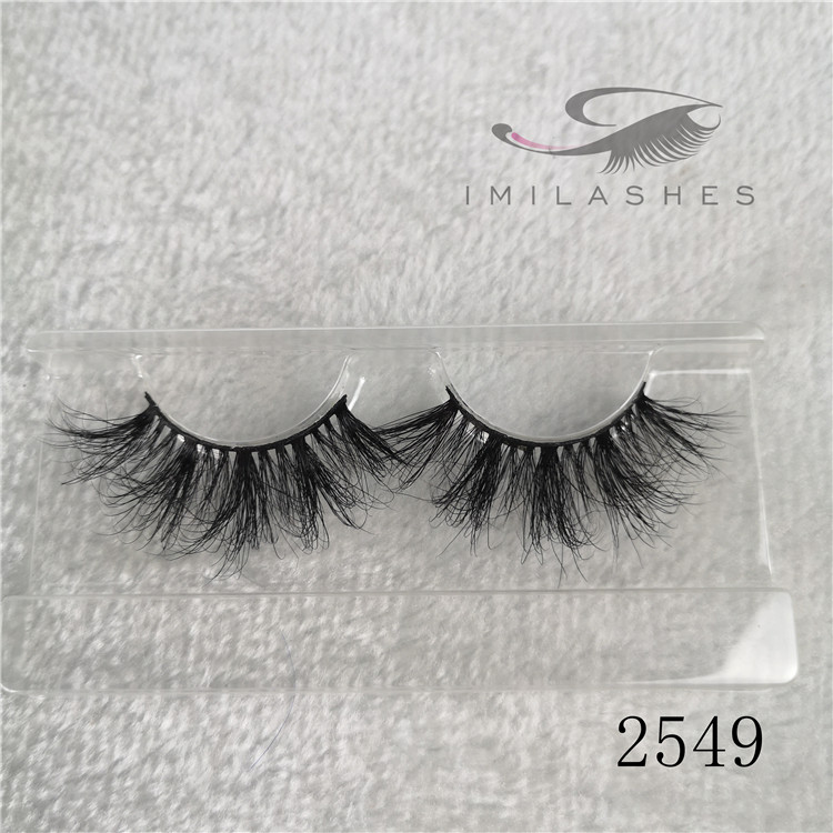 Wholesale cruelty free mink lashes factory long false lashes supplier A-49